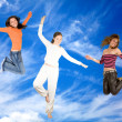Women on the sky — Stock Photo