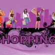 Shopping women — Lizenzfreies Foto