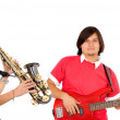 Couple of musicians — Stock Photo