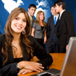 Business woman and her team — Stock Photo #7710696