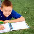 Boy coloring — Stock Photo