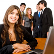 Business woman and her team — Stock Photo #7710738