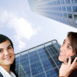 Business women on the phone — Stock Photo