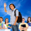 Student waving — Stock Photo #7710759
