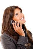 Donna d'affari al telefono — Foto Stock
