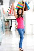 Chica con bolsas de compras — Foto de Stock