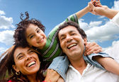 Gelukkig familie portret — Stockfoto