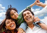 šťastný rodinný portrét — Stock fotografie