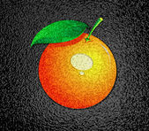 Orange over black — Stock Photo