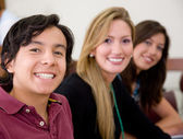 Happy students portrait — Stock Photo