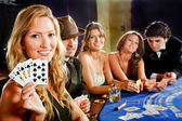 Poker players — Stock Photo