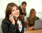 Empresaria en el teléfono — Foto de Stock