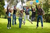 Studenti entusiasti — Foto Stock