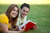 Couple studying — Stock Photo