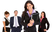 Smiley business woman — Stock Photo