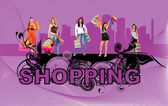 Shopping women — 图库照片