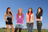 Casual women outdoors — Stock Photo