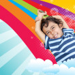 Rainbow boy - Stock Photo