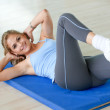 Stock Photo: Woman exercising