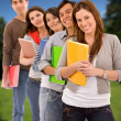 Group os students outdoors — Stock Photo