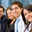 Smiley business group — Stock Photo