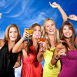 Stock Photo: Girls partying