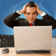 Stressed business man — Foto Stock