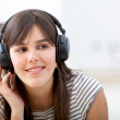 Girl listening to music — Stock Photo #7730930
