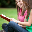 Girls studying outdoors — Stock Photo #7731060