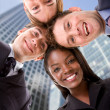 Business team - heads together — Stock Photo #7731146