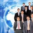 Stock Photo: Worldwide business men