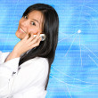 Business girl on the phone — Stock Photo