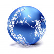 Blue globe - Stock Photo