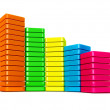 Colorful data graphic - Stock Photo