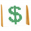Dollar symbol in an abacus — Stock Photo