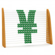 Yen symbol in an abacus — Stock Photo