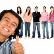 Guy with thumbs up — Stock Photo #7731321