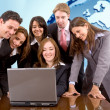 Business team with a laptop — Stock Photo #7731334