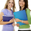 Beautiful female students - Stock Photo