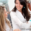 Business women in an office — Stock Photo