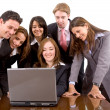 Business team with laptop — Stock Photo #7731413