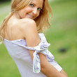 Beautiful woman outdoors - Stockfoto