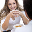 Couple eating breakfast — Stock Photo #7731488