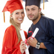 Graduated couple — Foto de Stock