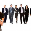 Business woman with her team — Stock Photo #7731523