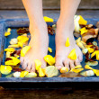 Womfeet into water — Stock Photo #7731551