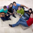 Gathering playing music - Stockfoto