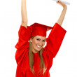 Happy female grad student — Stock Photo