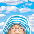 Woman with a hat outdoors - Foto Stock