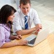 Business couple on a laptop — Stock Photo #7731656